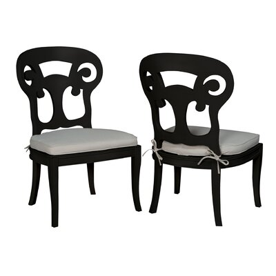 Emerson Side Chair Finish: Black Wood Grain
