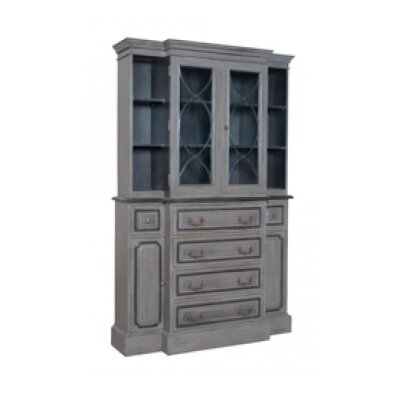 Ingrid Standard China Cabinet Color: Manor Carriage/Manor Graystone