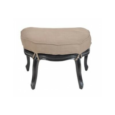 Langley Half Round Cabriole Ottoman Finish: Black Wood Grain
