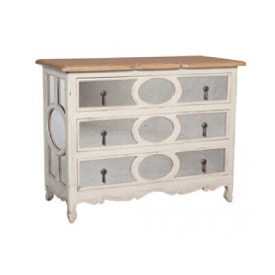 Strahan Classic 3 Drawer Standard Dresser Color: Manor White Wash/Artisan Dark Stain