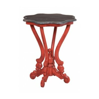 Plato End Table Color: Habanero Over Legacy Red/Heritage Dark Gray Stain