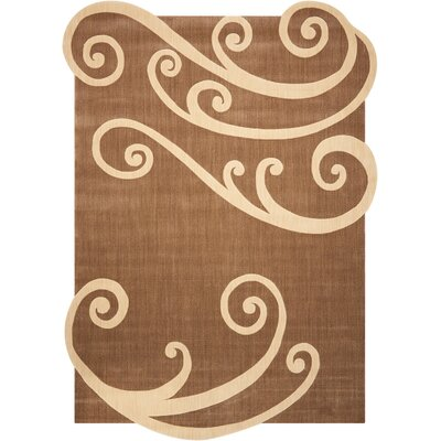 Decaro Chocolate Area Rug Rug Size: 46 x 66