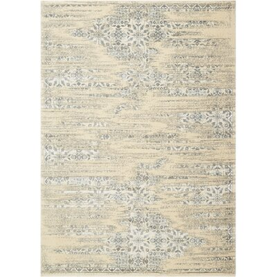 Bourgault Bone Area Rug Rug Size: Rectangle 53 x 75