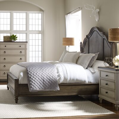 Bruyere Panel Bed Finish: Rustic Dark Elm, Size: California King