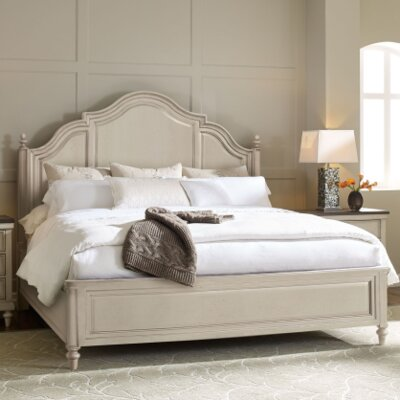 Bruyere Panel Bed Size: King, Color: Rustic Dark Elm