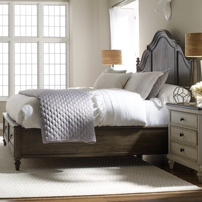 Bruyere Storage Panel Bed Finish: Rustic Dark Elm, Size: King