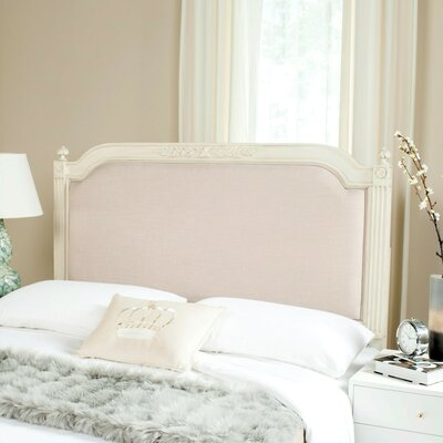 Oshields Upholstered Panel Headboard Size: Twin, Finish: Antique Beige