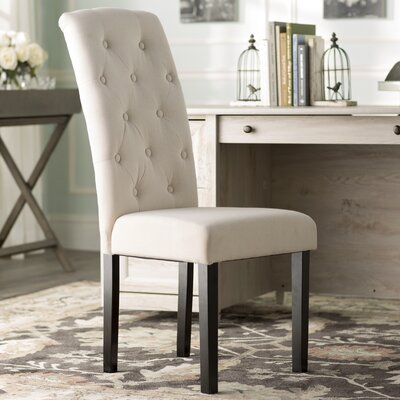 Oshiro Tufted Side Chair Upholstery: Ivory Linen
