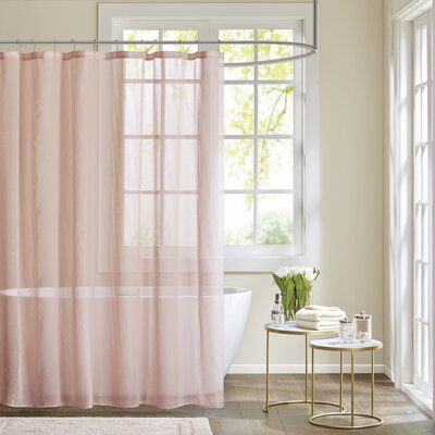 Ospina Shower Curtain Color: Pink