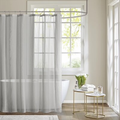 Ledonne Shower Curtain Color: Gray