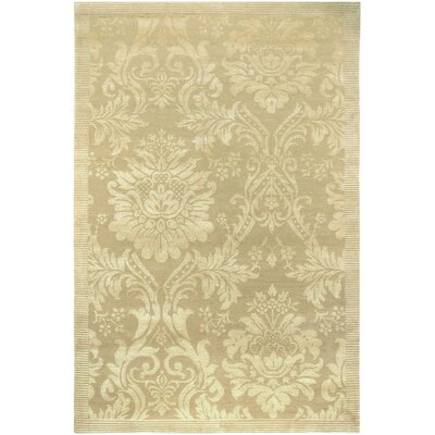 Osteen Hand-Knotted Gold Area Rug Rug Size: Rectangle 6 x 9