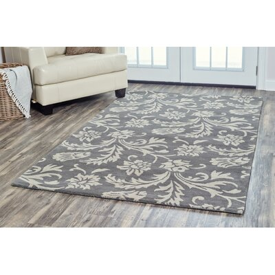 Ostrander Hand-Tufted Gray Area Rug Rug Size: Rectangle 5 x 8