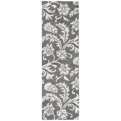 Ostrander Hand-Tufted Gray Area Rug Rug Size: Runner 26 x 10