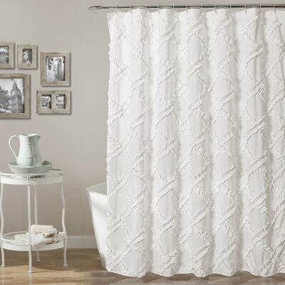 Carli Shower Curtain Color: White