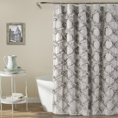 Carli Shower Curtain Color: Gray