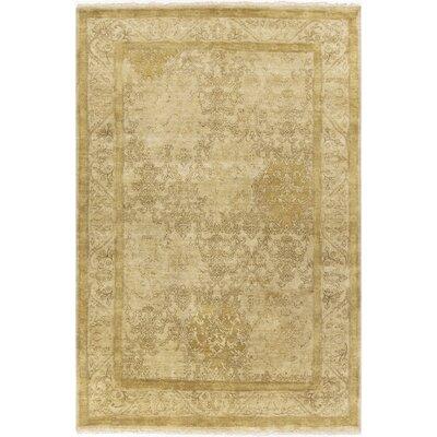 Otoole Gold Area Rug Rug Size: 56 x 86
