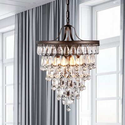 Outland 4-Light Crystal Chandelier