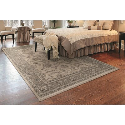 Loretta Ivory/Gray Area Rug Rug Size: Rectangle 82 x 113