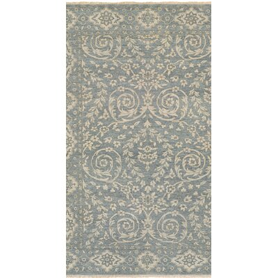 Eugenie Hand-Knotted Blue Area Rug Rug Size: Rectangle 56 x 89
