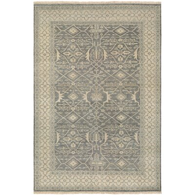 Eugenie Hand-Knotted Gray/Beige Area Rug Rug Size: Rectangle 96 x 139