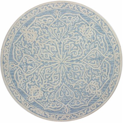 Provost Hand-Tufted Light Blue Area Rug Rug Size: Round 8