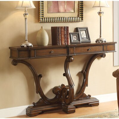Reims Console Table Finish: Brown