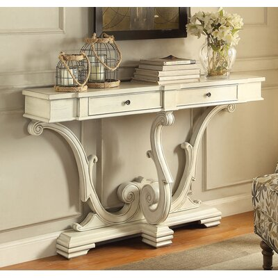Reims Console Table Finish: Antique White