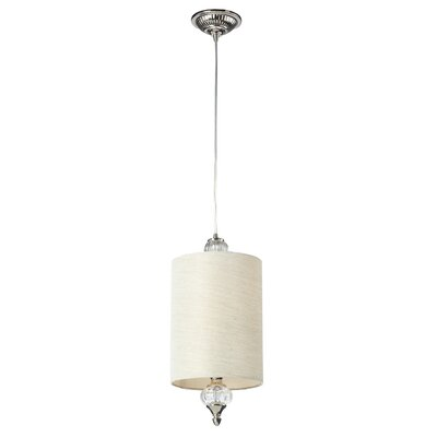 Overby 1-Light Mini Pendant Finish: Polished Nickel