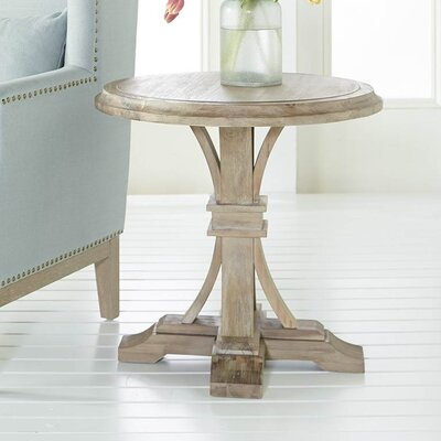 Montcerf Round End Table Finish: Stone Wash