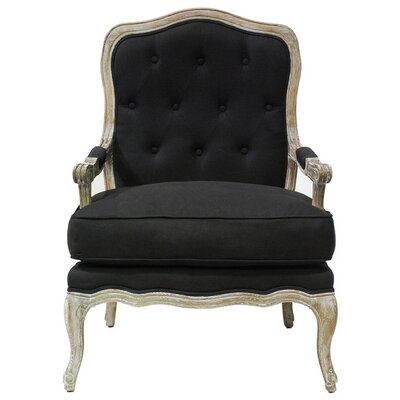 Eleanor Tufted Armchair Upholstery: Onyx