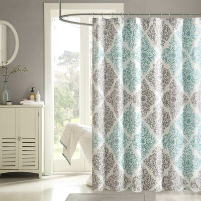 Frederica Shower Curtain Color: Aqua, Size: 72 H x 108 W