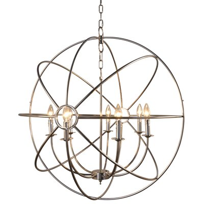 Padilla 7-Light Candle-Style Chandelier Finish: Nickel Plated