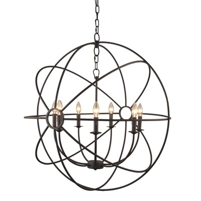 Padilla 7-Light Candle-Style Chandelier Finish: Rustic Black