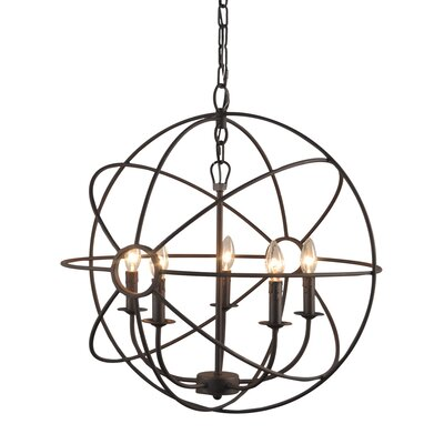 Padilla 5-Light Candle-Style Chandelier Finish: Rustic
