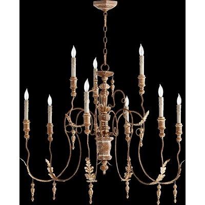 Paladino 9-Light Candle-Style Chandelier Finish: French Umber