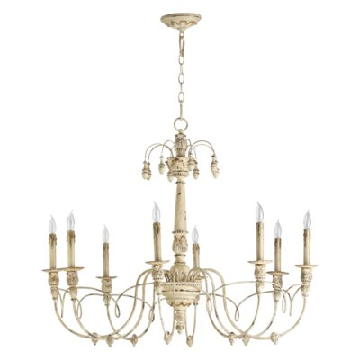 Paladino 8-Light Candle-Style Chandelier Finish: Persian white