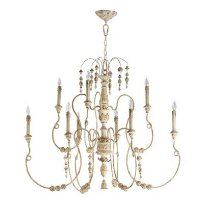 Paladino 9-Light Candle-Style Chandelier Finish: Persian White