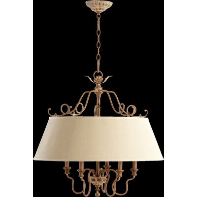 Paladino 5-Light Drum Pendant Finish: French Umber