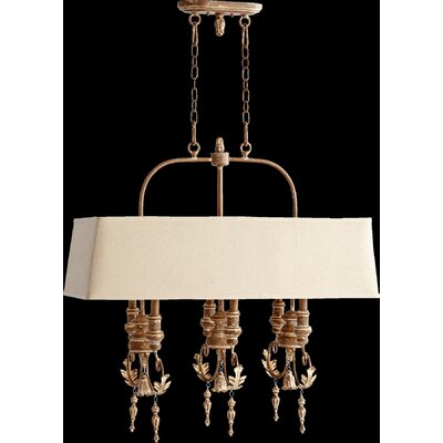 Paladino 6-Light Kitchen Island Pendant Finish: French Umber