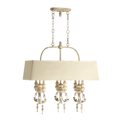 Paladino 6-Light Kitchen Island Pendant Finish: Persian White