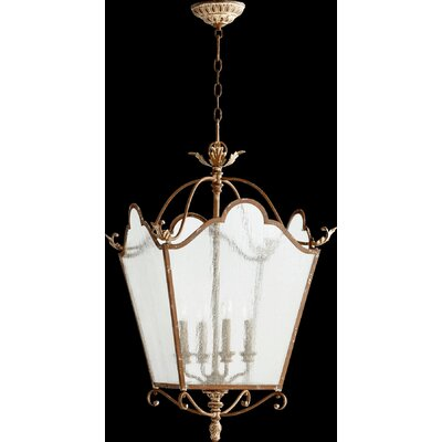 Paladino 4-Light Foyer Pendant Finish: French Umber