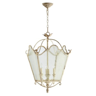 Paladino 4-Light Foyer Pendant Finish: Persian White