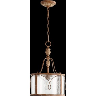 Paladino 1-Light Drum Foyer Pendant Finish: French Umber