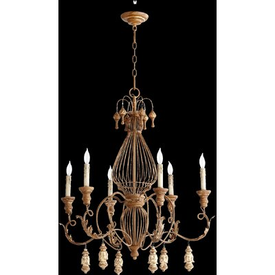 Paladino 6-Light Candle-Style Chandelier Finish: French Umber