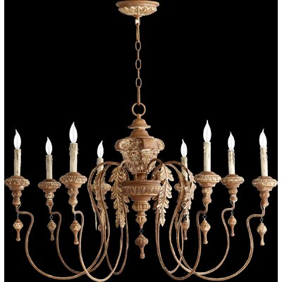 Paladino 8-Light Candle-Style Chandelier Finish: French Umber