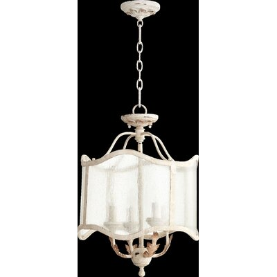 Paladino 4-Light Candle-Style Chandelier Finish: Persian White