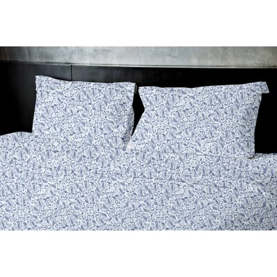 Plante Duvet Set Color: Blue, Size: Queen