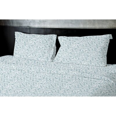 Plante Duvet Set Size: Queen, Color: Green