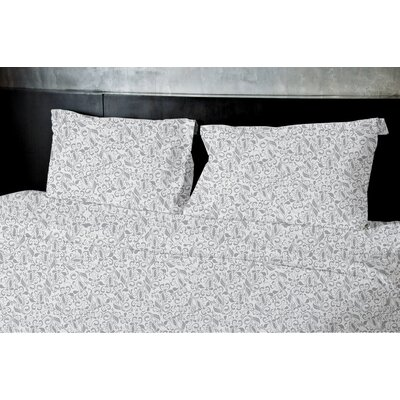 Plante Duvet Set Size: King, Color: Gray