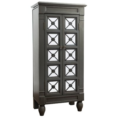 Plath Jewelry Armoire Color: Grey Wash
